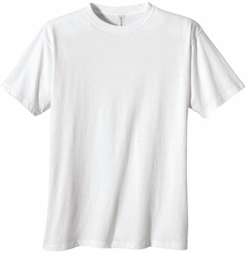 econscious Men's 100% Organic Cotton Short Sleeve Tee (White, X-Large) (Mens Short Practice Tee Sleeve)