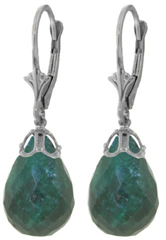 14k-White-Gold-Leverback-Earrings-with-Natural-Emeralds