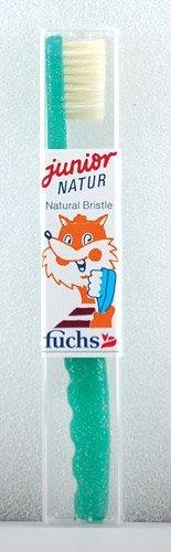 Fuchs Toothbrushes Pure Natural (Boar) Bristle Natur Jr. Child's Medium - 3PC
