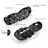 TACKLIFE Lawn Aerator Shoes, Updated Stiffened Sole Design, 4 Aluminum Alloy Buckled Straps Spike Sandals, Lawn Core Aeration Gardening Tools for Lawn or Yard
