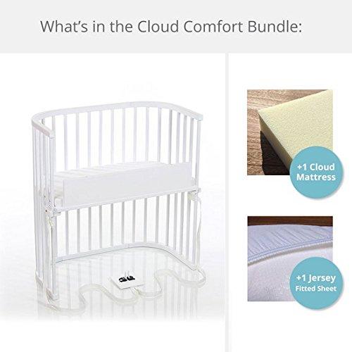 babybay Bedside Sleeper Cloud Comfort Bundle in Purist (Pure White) by babybay
