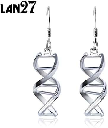 Helix DNA Drop Earrings Molecules Dangle Earrings Mother's Day Gift
