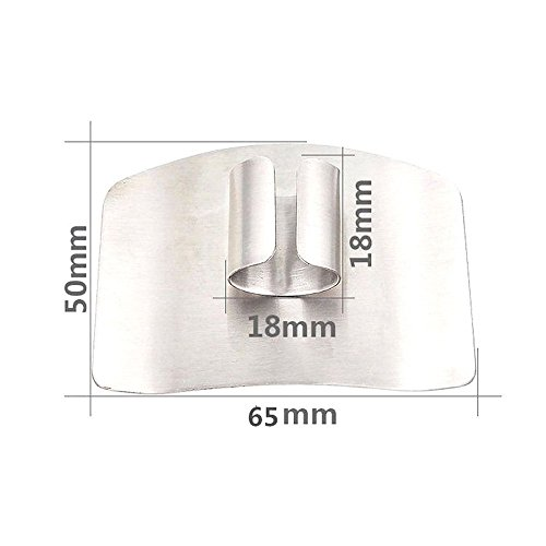 2 Pack Finger Guard For Cutting Stainless Steel Safe Slice Knife Guard Slicing Cutting Protector Finger Hand Protector Guard by Genenic (Image #2)