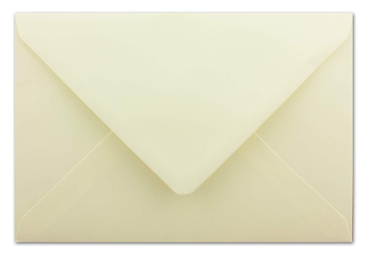 formato DIN C5-16,2 x 22,9 cm Buste per lettere con lembo umido e aletta di chiusura di alta qualit/à 50 pezzi Crema 100 g//m2 Gustav NEUSER