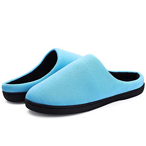 Donna Pantofole Foam B Rojeam Antiscivolo E Per Confortevole Inverno Uomo blu Peluche Da Casa Ciabatte Memory pBwdXB