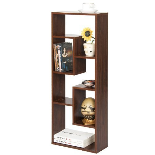 Furinno Fnaj 11033 Boyate Five Wall Mounted Shelf Walnut
