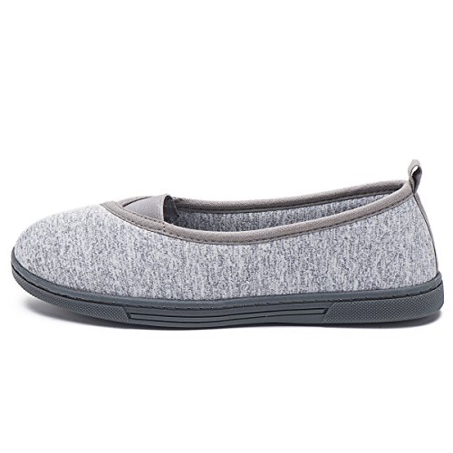Slippers Home Anti Memory Grey FootTech Skid Designed Comfort Foam Women Shoes House Cotton Lightweight YSvnSWaEwq