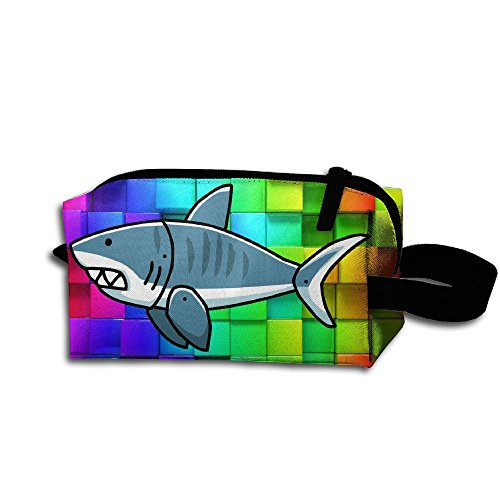 Storage Tools Bag, Canvas Tiger Shark Student Pen Pencil Case Coin Purse Pouch Cosmetic Makeup Bag For Outdoor School, Office, Travel, Makeup (Box Sewing Shark)