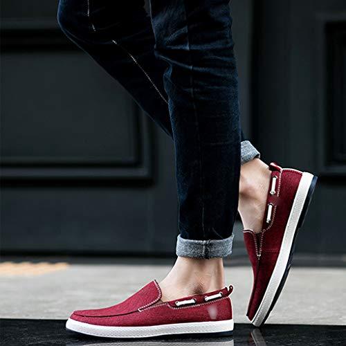 scarpe scarpe tendenza estiva WangKuanHome scarpe selvaggia uomo Red Size uomo casual denim di Red Scarpe tela tela da di da 38 Color wxIxtPq4Y