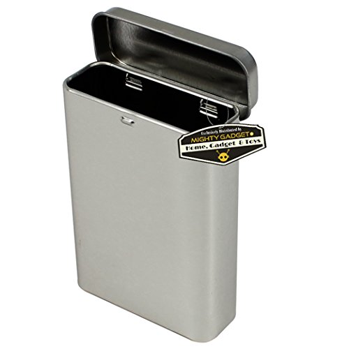 (Mighty Gadget (R Empty Vertical Hinged Lid Survival Tin Container for Geocaching or Survival Gear (4 Pack))