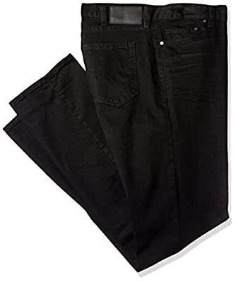 Calvin Klein Jeans Men's Big and Tall Straight Leg Jean Worn in Black