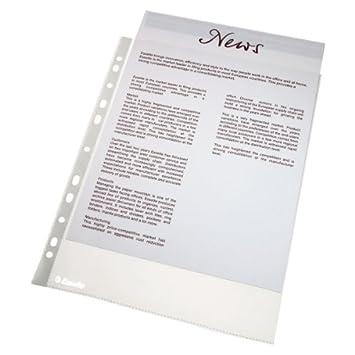 Leitz Funda porta documentos, Tamaño A4, PP, 43 micras, Multitaladro-11, Transparente, 56094: Amazon.es: Oficina y papelería