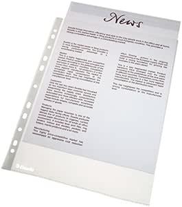 Esselte Funda de Plástico A4 Perforada, Transparente Mate, Abertura Superior, Polipropileno de 43 Micras, Pack de 10, 56094: Amazon.es: Oficina y papelería