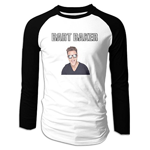 Price comparison product image HROSE Parody Man Men Athletic Raglan T-Shirt Top X-Large