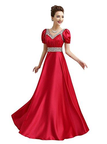 Drasawee Kleid Damen Kleid Rot Drasawee Damen Empire Empire Rot IUqx5