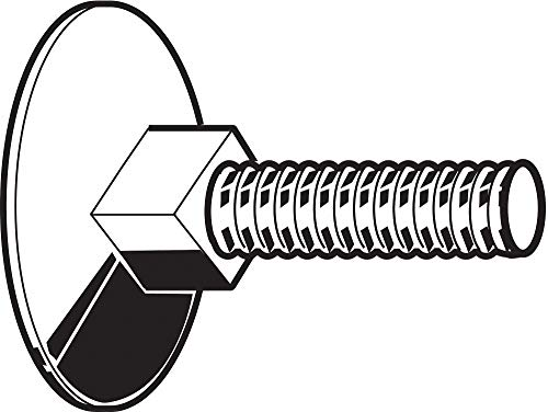 1/4''-20 Steel Flat Elevator Bolt, Grade A, 1-1/4''L, Plain Finish, 50 PK by FABORY