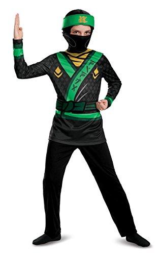 LEGO Ninjago Movie Boys' Lloyd Jumpsuit Classic Costume Medium 8-10 ()