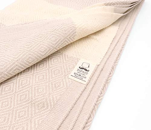 """Bazaar Anatolia Diamond Turkish Towel 100% Cotton Peshtemal Bath Towel 77x38 Thin Lightweight Travel Camping Bath Sauna Beach Gym Pool Blanket Fouta Bridesmaid Gift Quick Dry Towels (Cream) - HIGH QUALITY: Bazaar Anatolia Turkish towels are made in Turkey with high quality cotton. Quick dry towel absorbs water quite fast and dries very quickly without mildewy smell. Becomes softer and absorbent after several washes. MATERIAL and SIZE: 77x38"""" (196x98cm) 15 oz (420 Grams) Natural-dyed, pure 100% cotton, no harmful substances or chemicals, eco-friendly. Turkish beach towel is easy to carry, large and takes up less space. MULTI-PURPOSE: You can use as beach towel, bath towel, pool towel, bath towel, scarf, shawl or blanket. Also Turkish towels can be a unique idea for bridesmaid gifts, bachelorette party favors and wedding favors. You can use the pehstemal towel as a scarf on the outside, as a shawl on the terminal, as a travel blanket on an airplane, and as beach towels or turkish beach blanket when you get off the plane and go to the beach. - bathroom-linens, bathroom, bath-towels - 41oB3UeH8NL -"""