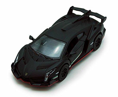 (Kinsmart Lamborghini Veneno, Black 5370D - 1/36 scale Diecast Model Toy Car, but NO BOX)
