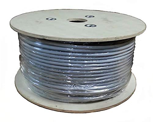 Sunnytech Cat7A STP AWG22 500ft CMR Riser, 1500MHz, GHMT 7A Certified Installation Cable,(w/20 Pack Cat7A Plug, 20/Boot Cap and 2x10GBit Keystone Free)
