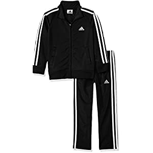 Best Epic Trends 41oB4AA1hJL._SS300_ adidas Boys' Tricot Jacket & Pant Clothing Set