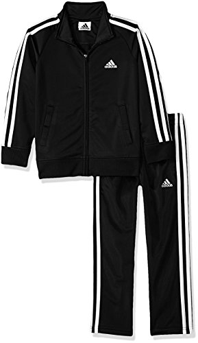 adidas Boys' Little Tricot Jacket & Pant Clothing Set, Adi Black, 5