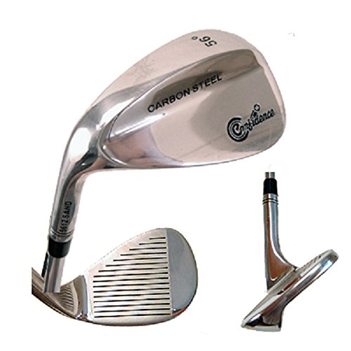 CONFIDENCE GOLF CARBON STAINLESS STEEL MEN'S LEFT HAND 52° GAP WEDGE GOLF CLUB by Confidence