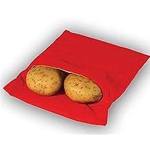 Potato Express Microwave Potato Cooker,Red Pouch Bag