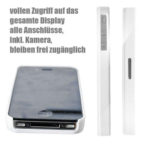 Iphone 4 / 4S Schutzhülle Bad Walter v3 - weisser Rahmen