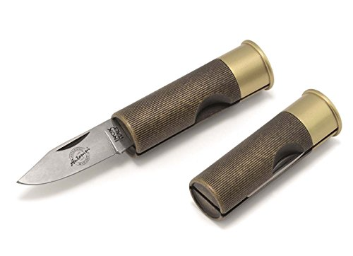 12 Gauge Shotgun Shell Knife - 1301 Original Antonini 12-Gauge Shotgun Shell Pocket Knife Special Finishes (Antique Bronze)