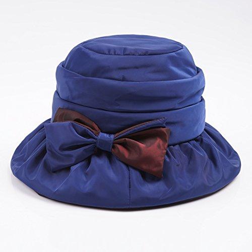 YMFIE Autunno e Inverno Cappello Elegante Cappello Caldo di Lana Trapuntata  di Velluto Cappello da Pescatore bb6f38c3fd60