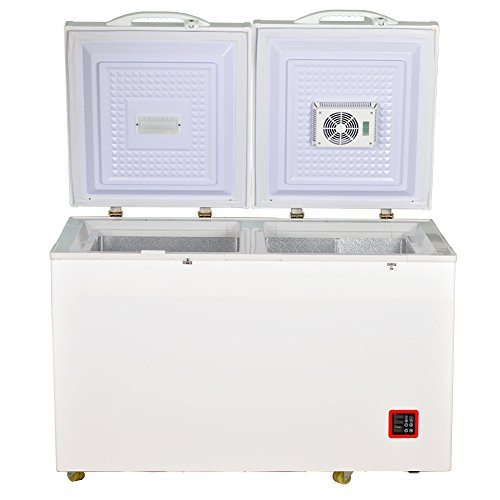 Smad 7.5 Cu.ft Solar Energy DC Refrigerator/Freezer Double Door Compressor Fridge