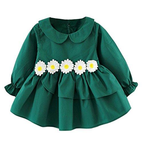163c1e293 Chic Vestidos Bebé,K-youth® Ropa bebé niñas bebé otoño manga larga ...