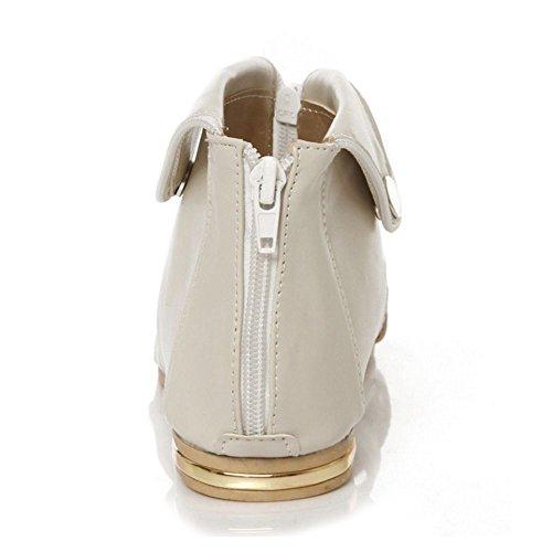 Gladiator Flats LongFengMa Beige Classic Shoes Sandals Women Bootie fqxv8xT