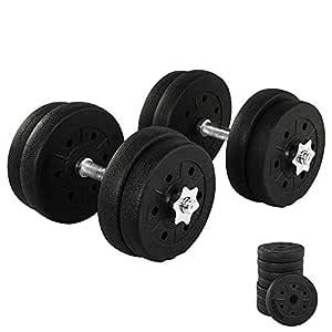 Juego de Mancuernas para Entrenamiento de tríceps, 20 kg, 2 ...