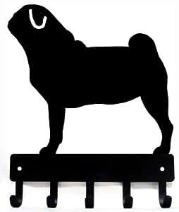 Amazon.com: Pug clave rack/correa del perro colgadero ...