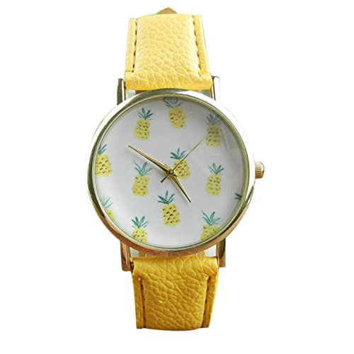 YELLOW CHIMES White Dial Yellow Strap Analog Watch for Girls and Women