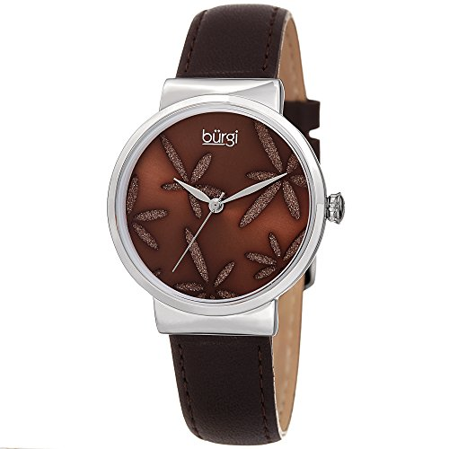 Sparkling-Flower-Womens-Fashion-Watch--Burgi-BUR191-Leather-Strap-Watch