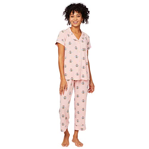 (The Cat's Pajamas Queen Bee Pima Knit Capri Pink )
