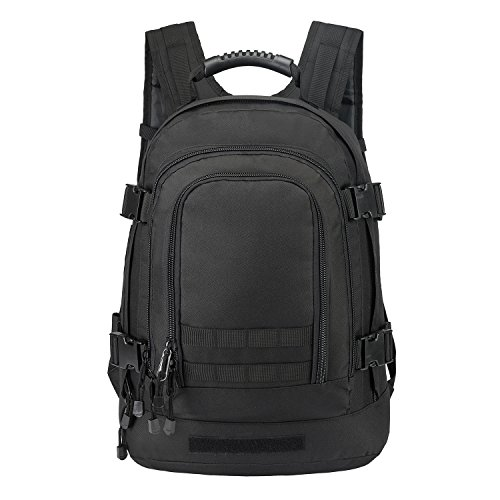 40L Outdoor Expandable Tactical Backpack Military Sport Camping Hiking Trekking Bag (Black 08002B)