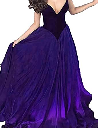 JOFE Red Sweetheart Evening Dress Sexy A-line Wedding Party Dresses Custom Made (Purple,14)