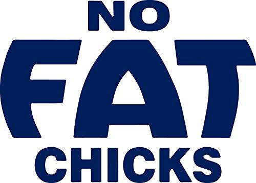 ANGDEST Humor Funny S NO Fat Chicks 1 (Navy Blue) (Set of 2) Premium Waterproof Vinyl Decal Stickers for Laptop Phone Accessory Helmet Car Window Bumper Mug Tuber Cup Door -