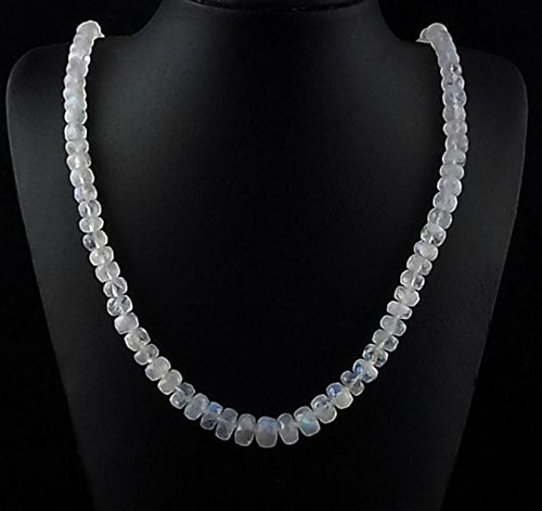 1 Strand Natural Blue Fire Rainbow Moonstone Faceted Rondelle 5-8mm Beads Necklace,adjustable 17.5