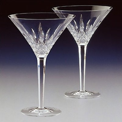 Waterford Crystal Lismore Tall Martini Glasses, Pair by Waterford