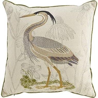 NicholasArt Pier 1 Imports Embellished Coastal Heron Pillow