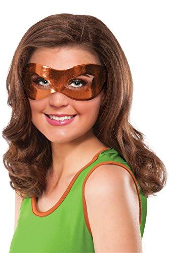 Rubie's Women's Teenage Mutant Ninja Turtles Classic Michelangelo Eye Mask, Orange, One Size -
