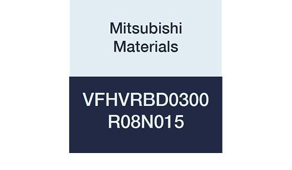 15 mm Neck Length 4 0.8 mm Corner Radius Mitsubishi Materials VFHVRBD0300R08N015 Series VFHVRB Carbide Impact Miracle End Mill Irregular Helix Flute Short 3 mm Cut Dia 3 mm LOC
