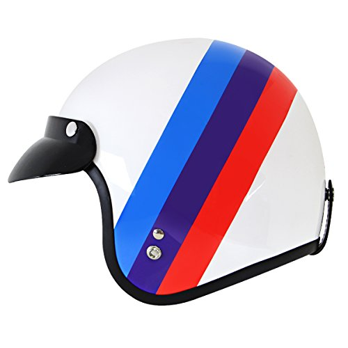 Outlaw Open Face (Outlaw Power White Motorcycle Open Face Helmet -)