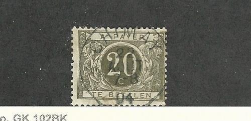 Belgium, Postage Stamp, J14 Used, 1916