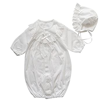 b9ba62888c9a2 夏物素材 新生児ベビードレス 日本製 丸ヨーク お宮参り退院時におすすめ お帽子